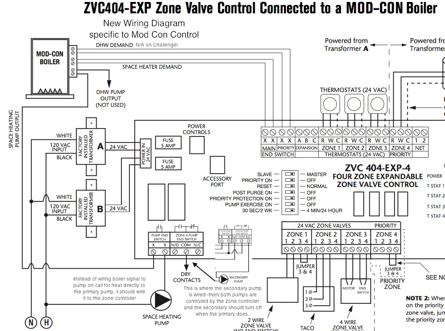 Zone Control with Mod Con pump control replacing carrier thermostat 960 120032 2 with honeywell rth9580 taco zone control wiring diagram at mifinder.co