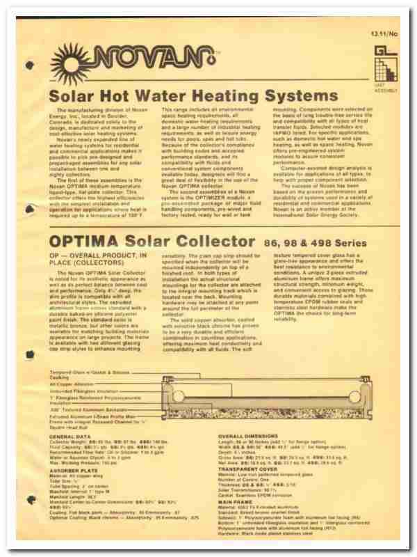 Novan Solar Hot Water System Twinsprings Research Institute