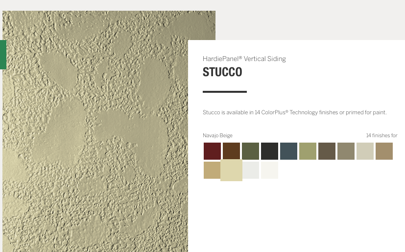 Cement Board Siding Stucco Finish