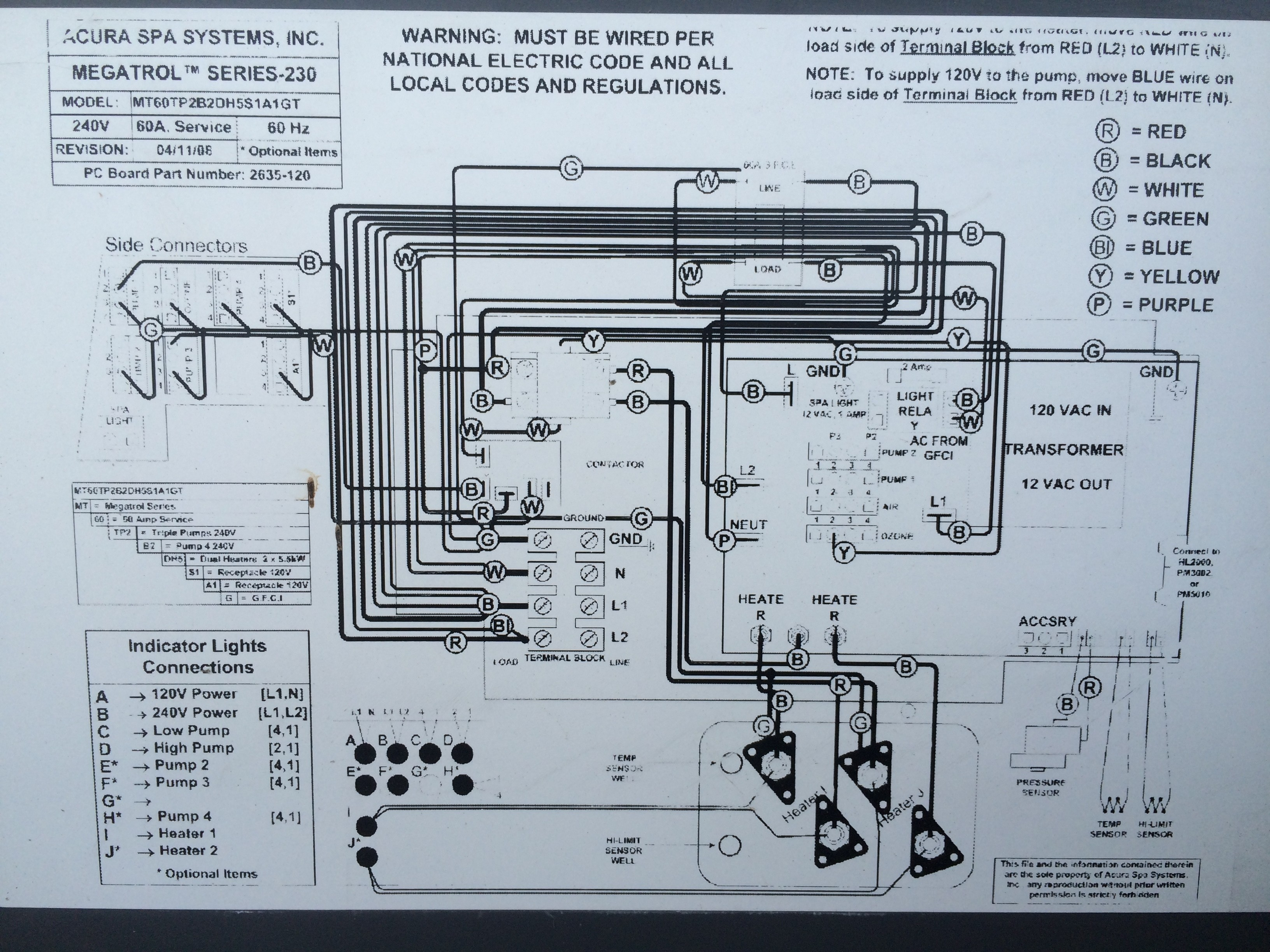 Spa Pump  Spa Pump Motor Wiring Diagram