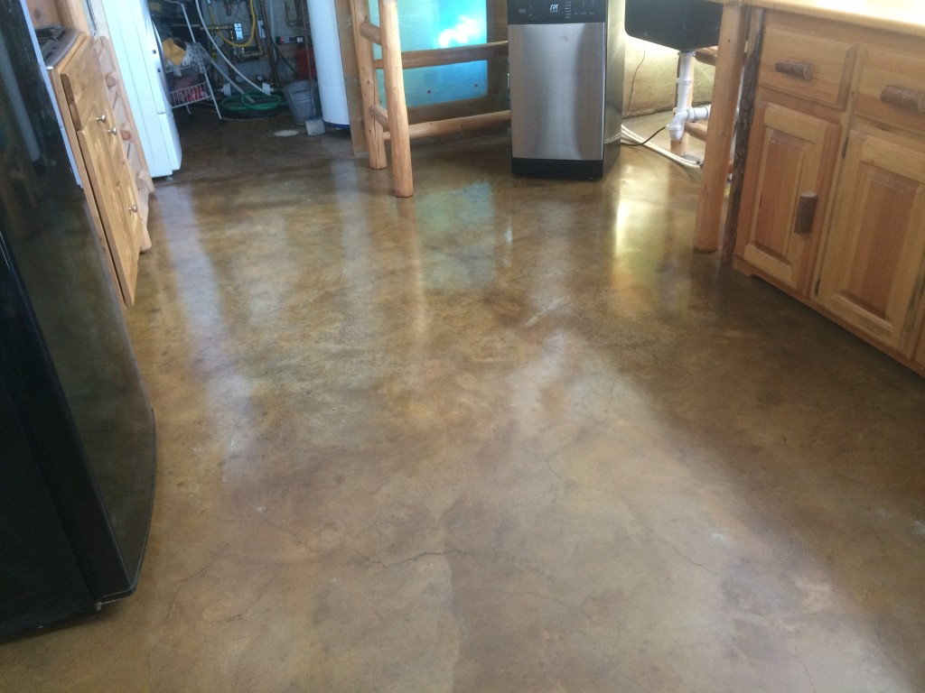 Resealing The Stained Concrete Floor Twinsprings