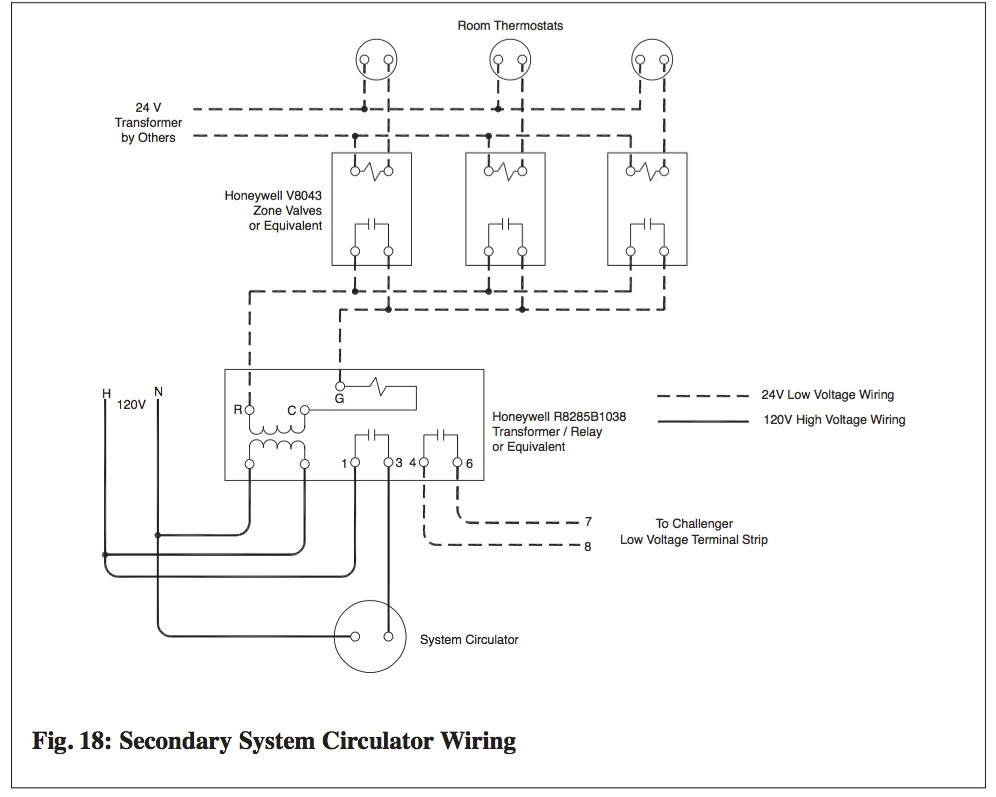 Secondary System Circulator Wiring