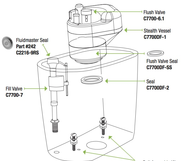 stealth dual flush tank schematic